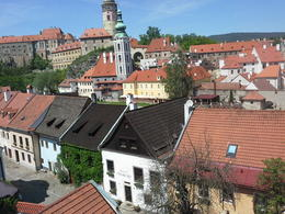 One of many nice views of Cesky Krumlov Town. The trip guided by Helen (a multi linguist) was super! Kind, patient and gave us her best service. She arranged for our luggages to be sent to our htl ... , SEOK PENG L - May 2014