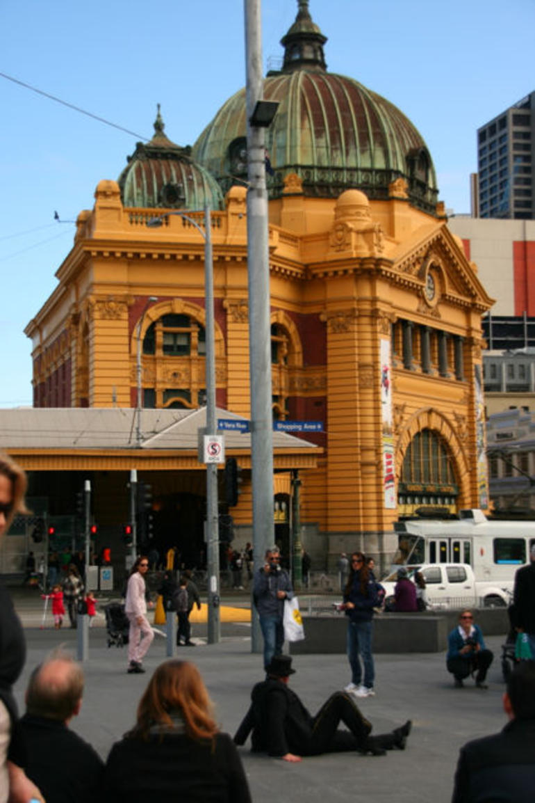 Flinders Street Station from Fed Square -