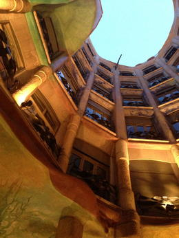 Looking up in the Courtyard , Saundra B - July 2013