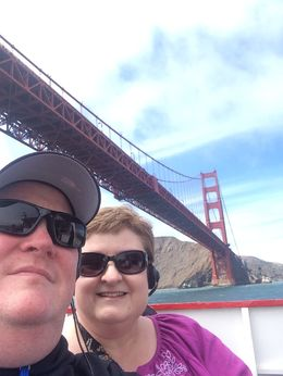 J and S Walters, enjoying a beautiful afternoon Bridge to Bridge Bay cruise , Susan W - June 2015