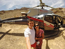 In front of our helicopter, Alex - June 2014