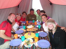 This was one of the beast meals we had on the trail. , Rodrigo E - November 2011