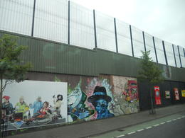 Peace Wall in Belfast , Mahsa K - July 2013