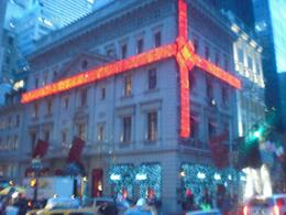 One example of the many holiday lights in New York. - December 2008