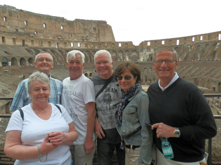 The full group was a brilliant small size of just six people - Rome