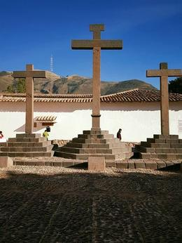 The Crosses to the right of the Andahuaylillas Chapel. , Puspa - July 2017