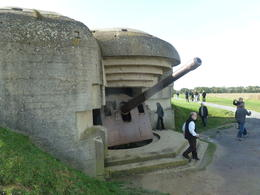This surprisingly well preserved gun turret that had protected the beaches during the war , Herb - October 2012