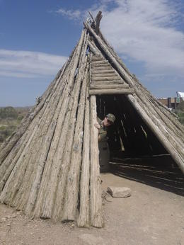 Native American dwelling, Mykie - July 2011