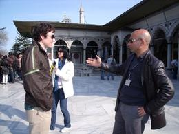 Our guide Omer calling the shots on Istanbul's history. - September 2009