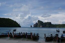 This is one of the views into the bay on Phi Phi Ley Island., Barry R - November 2008