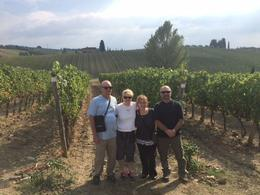 Rick and Linda and Bob and Lisa enjoying the scenery and learning about wine! , lmariescott - October 2016