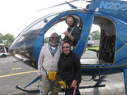 Willie G, Laurie and Colin the pilot , Laurie G - December 2016