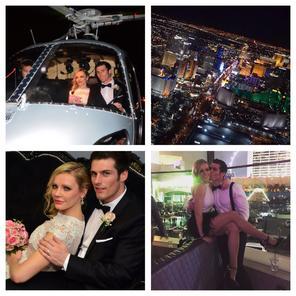 photo of las vegas las vegas night flight helicopter wedding ceremony - Mariage Las Vegas Validit