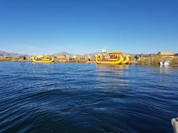 We took a boat ride on the Titicaca Lake. , Puspa - July 2017