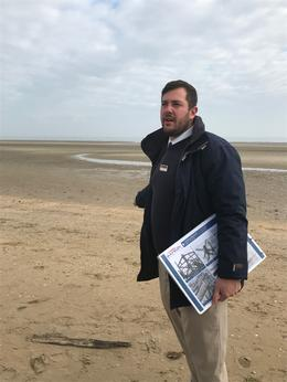 Jon talking to us on Utah beach , lambornmesa41 - October 2017