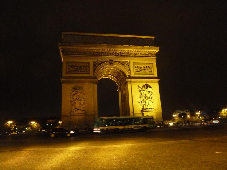 Arc de Triomphe at Night - Paris