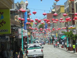 A view of China Town from our tour bus. , Heather U - June 2013