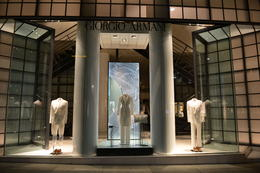 Giorgio Armani window display, Jeff - May 2013