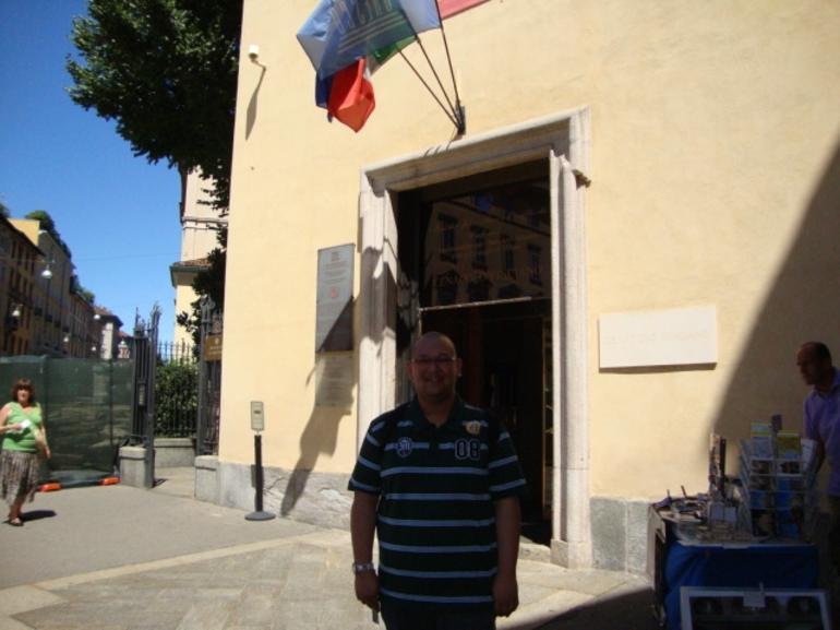 entrance in Leonardo's Last supper - Milan