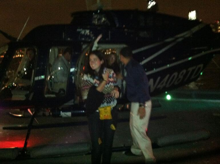 Exiting helicopter - New York City