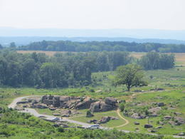 View of the Devil's Den from Little Round Top - August 2013