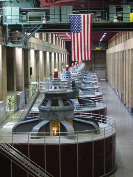A patriot's view of the Hoover Dam. - June 2008