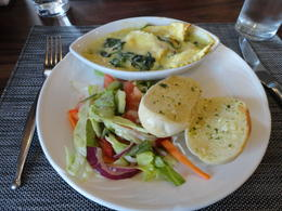 Great lunch of Spinach ravioli. Get the chocolate molton cake, yum! , Judy & Mike - July 2012