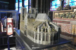 Outside of Notre Dame, and model of same inside. , CHARLES P - July 2014