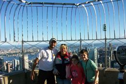 Wonderful clear day for a private visit to EmpireState-this is JP our Tour Guide with our family- it was a fantastic day and a super tour , Jackie G - September 2012