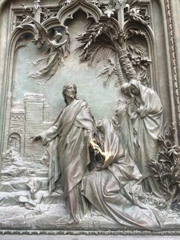 This is on the huge doors of the Duomo. , Kristyne T - August 2016
