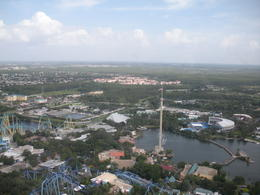 Flying over SeaWorld, charley - July 2011
