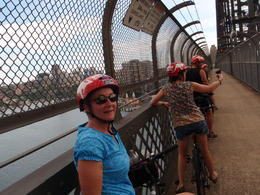 Riding over the Sydney Harbor Bridge. , David L - February 2011