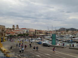 View from the ferry deck of Aegina port. , Joe A - July 2013