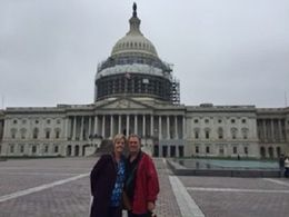 This is my husband and I in front of the Capital waiting on the tour to begin. , Trevor - July 2016
