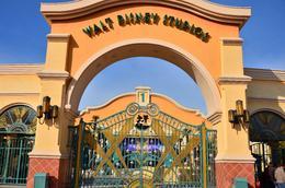 at the entrance gate of Walt Disney Studios , donghenz - June 2012