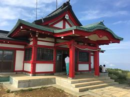 This was the shrine at the top of Mt Komagatake , Genevieve Z - July 2017