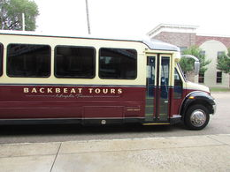 This is the vintage-looking bus that took us through Memphis. , Staylor - August 2016