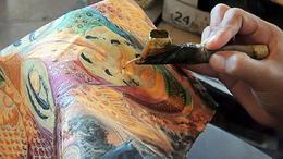 Batik painting , C S - January 2015
