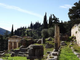 view walking up to the Temple of Apollo , gerald d - December 2013