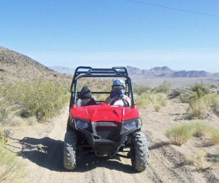 Driving through the desert - Las Vegas