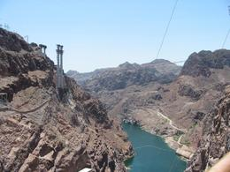 Colorado River feeding into the Hoover Dam. - June 2008