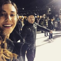 Kevin and I on the ice , Alex - December 2015