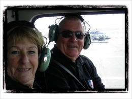 Thius is Anne and Neil from Australiaready for take off. There were two other Australias and two from UK on the same flight. 7 counting the pilot , Neil B - May 2012