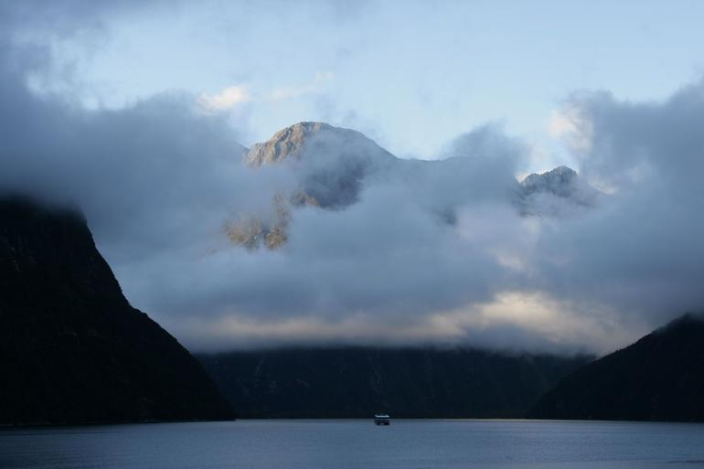 Morning clouds clearing - Fiordland & Milford Sound