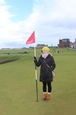 at the 17th hole with the road bunker to the left at st andrews old course , Brittany P - February 2014