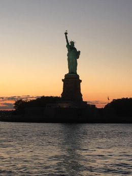 Beautiful view of the Statue of Liberty on the sunset boat tour. , Jennifer L - August 2016