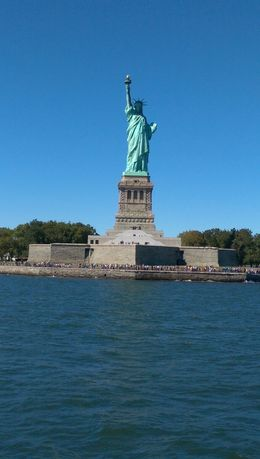 Statue of Liberty from the boat cruise , Oyindamola J - September 2015