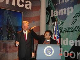 Getting a slap from me (at the wax museum)., Sumit B - January 2008
