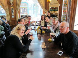 This was our group for the night at Cafe Lombard drinking the holy Westvleteren 12. , ashtothexo - April 2013