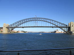 A stunning view of the bridge from the top deck of the boat., Nicks - December 2013